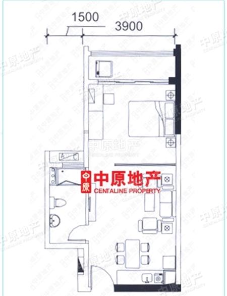 嘉诚国际公寓 一房一厅 安静户型 产权清晰 诚心出售